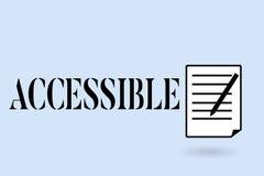 Escritura del texto de la escritura accesible Significado del concepto capaz de ser alcanzado o de fácil acceso tolerante amistos ilustración del vector
