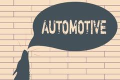 Escritura del texto de la escritura automotriz Relacionado automotor del significado del concepto a los automóviles de los coches ilustración del vector