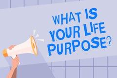 Escritura del texto de la escritura cuál es su vida Purposequestion Los objetivos personales de la determinación del significado  ilustración del vector