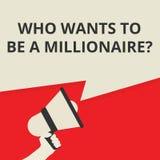 escritura del texto que quiere ser una pregunta del millonario stock de ilustración