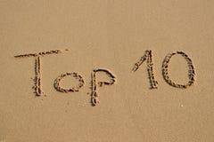 Escritura del top 10 Fotos de archivo libres de regalías