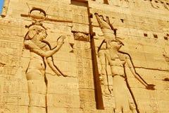 Escritura egipcia antigua Imágenes de archivo libres de regalías