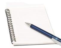 Escritura en cuaderno foto de archivo libre de regalías