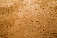 Escritura en las paredes de Luxor antiguo Fotografía de archivo libre de regalías