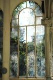 Escritura en una ventana Foto de archivo