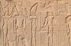 Escritura faraónica en una pared fotografía de archivo libre de regalías