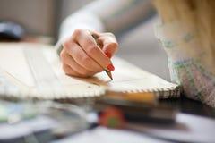 Escritura. Foco suave. Imagenes de archivo