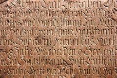 Escritura gótica Fotografía de archivo libre de regalías