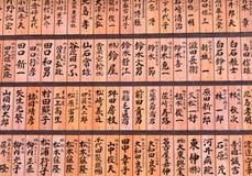 Escritura japonesa Fotografía de archivo