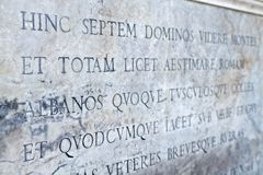 Escritura latina Imagenes de archivo