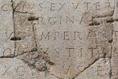 Escritura latina antigua Fotos de archivo libres de regalías