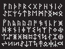 Escritura rúnica de plata Imágenes de archivo libres de regalías