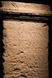 Escritura romana antigua Imágenes de archivo libres de regalías