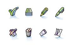 Escritura y supresión Imágenes de archivo libres de regalías