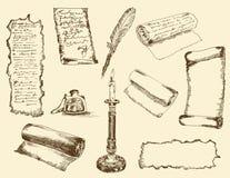 Escrituras antiguas Fotografía de archivo libre de regalías