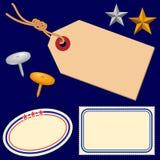 Escrituras de la etiqueta 1 Foto de archivo libre de regalías
