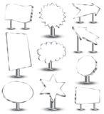 escrituras de la etiqueta 3d Fotografía de archivo libre de regalías