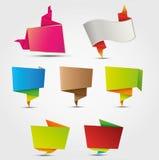 Escrituras de la etiqueta abstractas del origami Imágenes de archivo libres de regalías