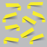 Escrituras de la etiqueta brillantes en blanco del vector ilustración del vector