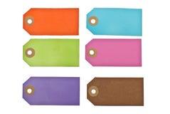 Escrituras de la etiqueta coloridas. Foto de archivo libre de regalías