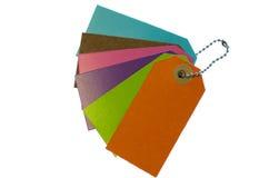Escrituras de la etiqueta coloridas. Fotografía de archivo libre de regalías