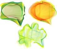 Escrituras de la etiqueta coloridas abstractas, etiquetas Imagen de archivo libre de regalías