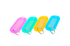 Escrituras de la etiqueta coloridas del clave Foto de archivo libre de regalías