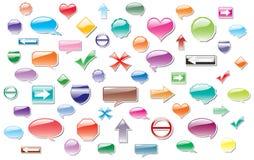 Escrituras de la etiqueta coloridas del vector Imagen de archivo