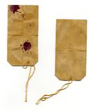 Escrituras de la etiqueta de direccionamiento marcadas desaliñadas Imagenes de archivo