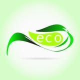 Escrituras de la etiqueta de Eco Imágenes de archivo libres de regalías