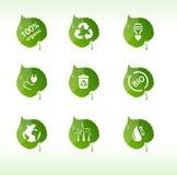 Escrituras de la etiqueta de Eco aisladas Fotos de archivo libres de regalías