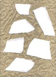 Escrituras de la etiqueta de la arpillera Foto de archivo