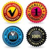 Escrituras de la etiqueta de la calidad