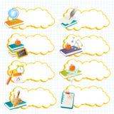 Escrituras de la etiqueta de la escuela Imagen de archivo libre de regalías