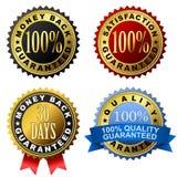 Escrituras de la etiqueta de la garantía Imagen de archivo