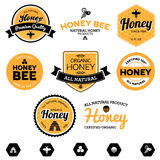 Escrituras de la etiqueta de la miel Imagen de archivo libre de regalías