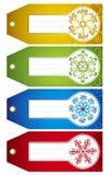 Escrituras de la etiqueta de la Navidad,   Imagen de archivo