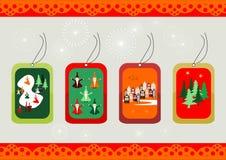 Escrituras de la etiqueta de la Navidad Imágenes de archivo libres de regalías