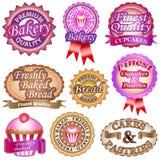 Escrituras de la etiqueta de la panadería stock de ilustración