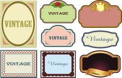 Escrituras de la etiqueta de la vendimia Foto de archivo libre de regalías