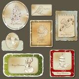 Escrituras de la etiqueta de la vendimia Fotografía de archivo libre de regalías