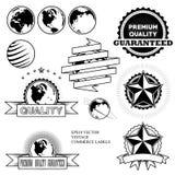 Escrituras de la etiqueta de la vendimia Imagen de archivo libre de regalías