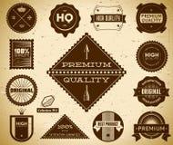 Escrituras de la etiqueta de la vendimia. Colección 5 Imagen de archivo libre de regalías