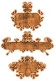 Escrituras de la etiqueta de la vendimia de Grunge Fotos de archivo