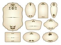 Escrituras de la etiqueta de la vendimia del vector Imagen de archivo