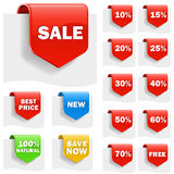 Escrituras de la etiqueta de la venta Imágenes de archivo libres de regalías