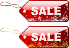 Escrituras de la etiqueta de la venta de la Navidad Fotografía de archivo libre de regalías