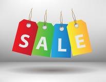 Escrituras de la etiqueta de las ventas Fotos de archivo libres de regalías