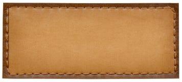 Escrituras de la etiqueta de los pantalones vaqueros Fotografía de archivo