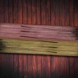 Escrituras de la etiqueta de madera Imagen de archivo libre de regalías